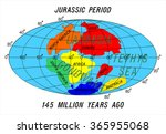 position continents jurassic... | Shutterstock .eps vector #365955068