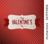 valentines day realistic banner ... | Shutterstock .eps vector #365955806