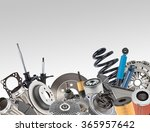 lot of car spare parts on white | Shutterstock . vector #365957642