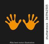 stop hand icon vector.   Shutterstock .eps vector #365962505