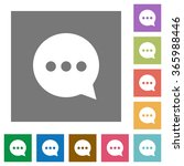 working chat flat icon set on...