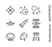 outline icon set on the white... | Shutterstock .eps vector #365993942