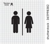 man and lady toilet sign | Shutterstock .eps vector #365998382