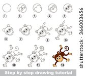 drawing tutorial. how to draw a ... | Shutterstock .eps vector #366003656