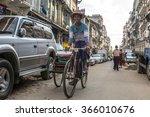 yangon  myanmar   january 3 ... | Shutterstock . vector #366010676