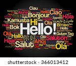 hello word cloud in different... | Shutterstock .eps vector #366013412