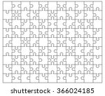 white puzzle  vector... | Shutterstock .eps vector #366024185