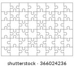 white puzzle  vector... | Shutterstock .eps vector #366024236