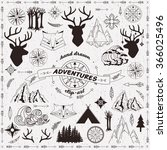 hand drawn adventures clip art | Shutterstock .eps vector #366025496