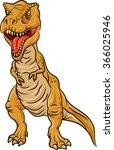 tyrannosaurus rex character... | Shutterstock .eps vector #366025946