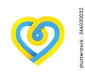 ukraine heart flag isolated on... | Shutterstock . vector #366030032