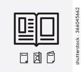 magazine open page vector.... | Shutterstock .eps vector #366045662