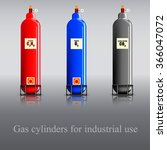gas cylinders for industrial... | Shutterstock .eps vector #366047072