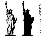 The Statue Of Liberty. Vector...