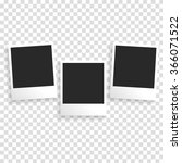photo frame on a transparent... | Shutterstock .eps vector #366071522