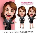set of 3d realistic...   Shutterstock .eps vector #366072095