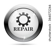 repair icon. internet button on ... | Shutterstock .eps vector #366072266