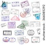 passport stamps | Shutterstock . vector #366085292