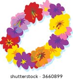 Hawaii Set Hawaiian Lei With Big Colorful Hibiscus Flowers