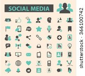 social media icons | Shutterstock .eps vector #366100742