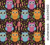 childish seamless pattern with... | Shutterstock .eps vector #366104432