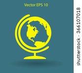 flat globe icon.   Shutterstock .eps vector #366107018