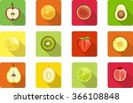 colorful fresh fruit and... | Shutterstock .eps vector #366108848