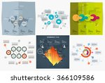 collection of infographic... | Shutterstock .eps vector #366109586