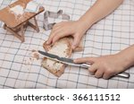 child playing in a miniature... | Shutterstock . vector #366111512