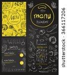 restaurant food menu vintage... | Shutterstock .eps vector #366117206