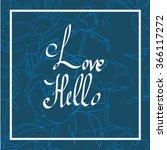 handwritten love script. love...   Shutterstock .eps vector #366117272