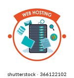 web hosting and data security... | Shutterstock .eps vector #366122102