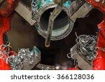 pipe threading machine was made ... | Shutterstock . vector #366128036