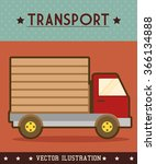 vehicle transport icon | Shutterstock .eps vector #366134888