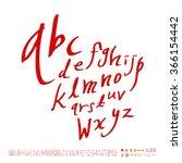 hand drawn alphabet   number  ... | Shutterstock .eps vector #366154442