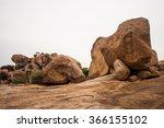 Hampi  India. Boulder Rocks On...