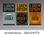 vector label set for vodka ... | Shutterstock .eps vector #366159575