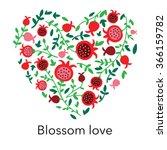cute beautiful heart with... | Shutterstock .eps vector #366159782