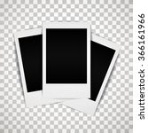 vector photo frame with shadow  ... | Shutterstock .eps vector #366161966