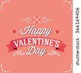 logo design happy  valentines...   Shutterstock .eps vector #366169406