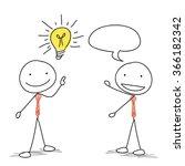 two business stick man talking...   Shutterstock .eps vector #366182342