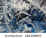 frosty winter background at... | Shutterstock . vector #366208802