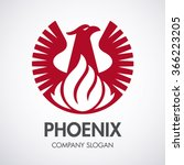 phoenix and fire logo  eagle... | Shutterstock .eps vector #366223205