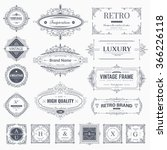 collection of vintage... | Shutterstock .eps vector #366226118