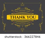 thank you   vector typography.... | Shutterstock .eps vector #366227846