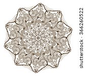 vector floral mandala in indian ... | Shutterstock .eps vector #366260522