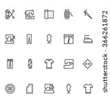 sewing line vector icons 2 | Shutterstock .eps vector #366261872