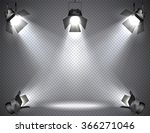 spotlights with bright lights... | Shutterstock .eps vector #366271046