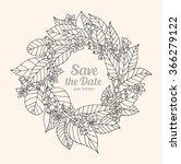 forest flowers wreath  wild... | Shutterstock .eps vector #366279122