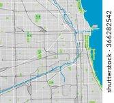 chicago vector map ultra... | Shutterstock .eps vector #366282542